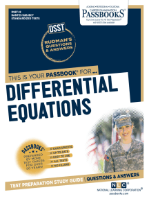 DIFFERENTIAL EQUATIONS: Passbooks Study Guide