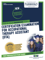 CERTIFICATION EXAMINATION FOR OCCUPATIONAL THERAPY ASSISTANT (OTA)