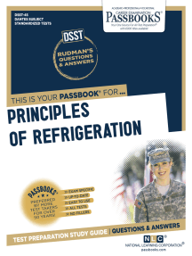 PRINCIPLES OF REFRIGERATION: Passbooks Study Guide