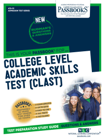 COLLEGE LEVEL ACADEMIC SKILLS TEST (CLAST): Passbooks Study Guide
