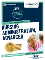 NURSING ADMINISTRATION, ADVANCED