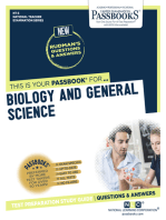 BIOLOGY AND GENERAL SCIENCE