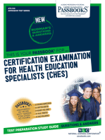 CERTIFICATION EXAMINATION FOR HEALTH EDUCATION SPECIALISTS (CHES)