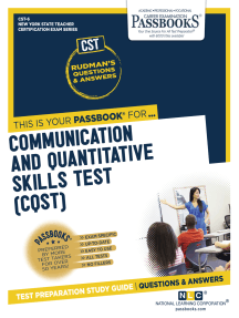Communication and Quantitative Skills Test (CQST): Passbooks Study Guide