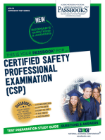 CERTIFIED SAFETY PROFESSIONAL EXAMINATION (CSP)