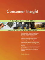 Consumer Insight A Complete Guide - 2019 Edition