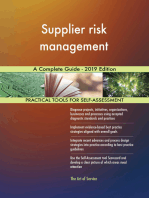 Supplier risk management A Complete Guide - 2019 Edition