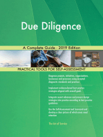 Due Diligence A Complete Guide - 2019 Edition