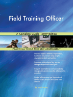 Field Training Officer A Complete Guide - 2019 Edition