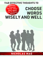 1148 Effective Thoughts to Choose Words Wisely and Well
