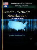 Remote/WebCam Notarization <<Extended>> Commonwealth of Virginia