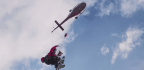 It's A Bird! It's A Plane! It's ... A Dog Dangling From A Helicopter?!