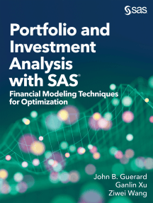 Portfolio and Investment Analysis with SAS: Financial Modeling Techniques for Optimization