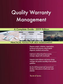 Quality Warranty Management A Complete Guide - 2019 Edition