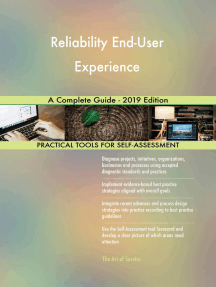 Reliability End-User Experience A Complete Guide - 2019 Edition