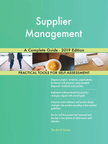 Supplier Management A Complete Guide - 2019 Edition