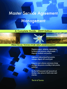 Master Service Agreement Management A Complete Guide - 2019 Edition