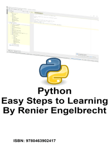 Python. Easy Steps to Learning.
