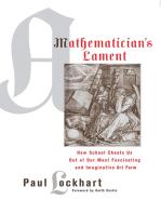A Mathematician's Lament