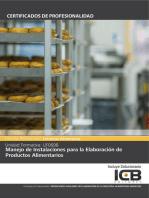 UF0698: MANEJO DE INSTALACIONES PARA LA ELABORACIÓN DE PRODUCTOS ALIMENTARIOS (INAD0108)
