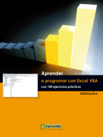 Aprender a programar con Excel VBA con 100 ejercicios práctico