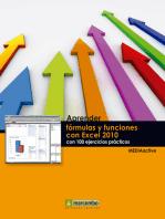 Aprender fórmulas y funciones con Excel 2010 con 100 ejercicios prácticos