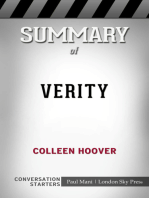 Summary of Verity by Colleen Hoover   Conversation Starters