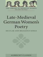 Late-Medieval German Women's Poetry