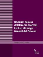 Nociones básicas del Derecho Procesal Civil en el Código General del Proceso