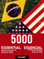 5000 Essential Bilingual Vocabulary English-Portuguese Portuguese-English