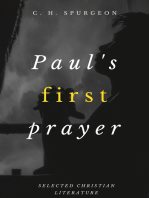 Paul's First Prayer