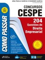Como passar em concursos CESPE: direito empresarial: 204 questões de direito empresarial