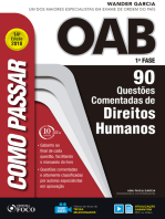 Como passar na OAB 1ª Fase: direitos humanos: 90 questões comentadas