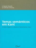 Temas semânticos em Kant