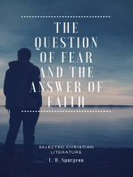 The Question of fear and the answer of faith