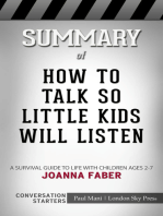 Summary of How to Talk so Little Kids Will Listen