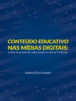Conteúdo educativo nas mídias digitais