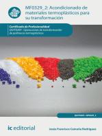 Acondicionado de materiales termoplásticos para su transformación. QUIT0209