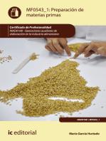 Preparación de materias primas. INAD0108