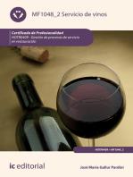 Servicio de vinos. HOTR0409