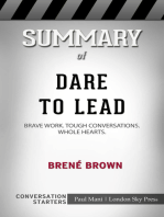 Summary of Dare to Lead