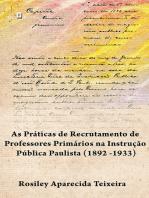 Os concursos públicos de professores primários na instrução pública paulista (1892 -1933)
