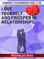 Correct Statements (921 +) to Love Yourself and Prosper in Relationships