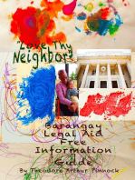 Love Thy Neighbor, Barangay Legal Aid Free Information Guide