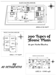 200 Types of House Plans as per Vastu Shastra