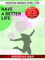 Positive Words (1198 +) to Have a Better Life