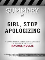 Summary of Girl, Stop Apologizing