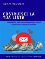Costruisci la tua lista - Lista per l'e-mail marketing dei tuoi clienti