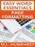 Page Formatting