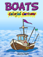 Boats Colorful Cartoons